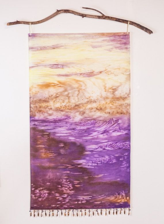 Purple Tapestry  Abstract Art Wall Hanging  by WatercolorMuse1