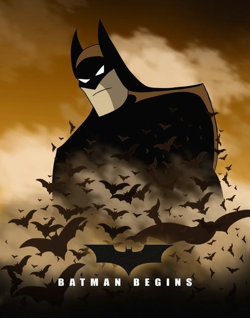 """""""Batman Begins"""" - As imagined with """"The Animated Series"""" style."""