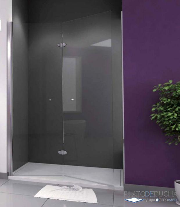 Mampara de ducha plegable carey con dos hojas plegables - Mampara plegable ducha ...