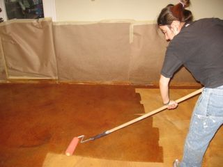 Social Gracious: Do It Yourself Stained Concrete Floors    Affordable And  Durable