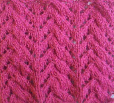 Вязание на спицах узоры косы  Коса с ажурной елочкой