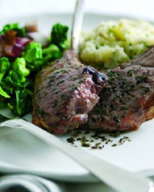 Low FODMAP Recipe and Gluten Free Recipe - Grilled Lamb Chops with Olive Mash http://www.ibssano.com/low_fodmap_recipe_grilled_chops_olive_mash.html