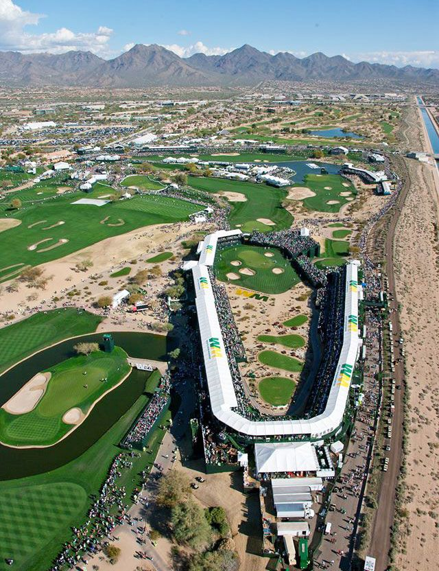 2/4-2/7: Waste Management Phoenix Open - see me in the stands? I am in this picture!!