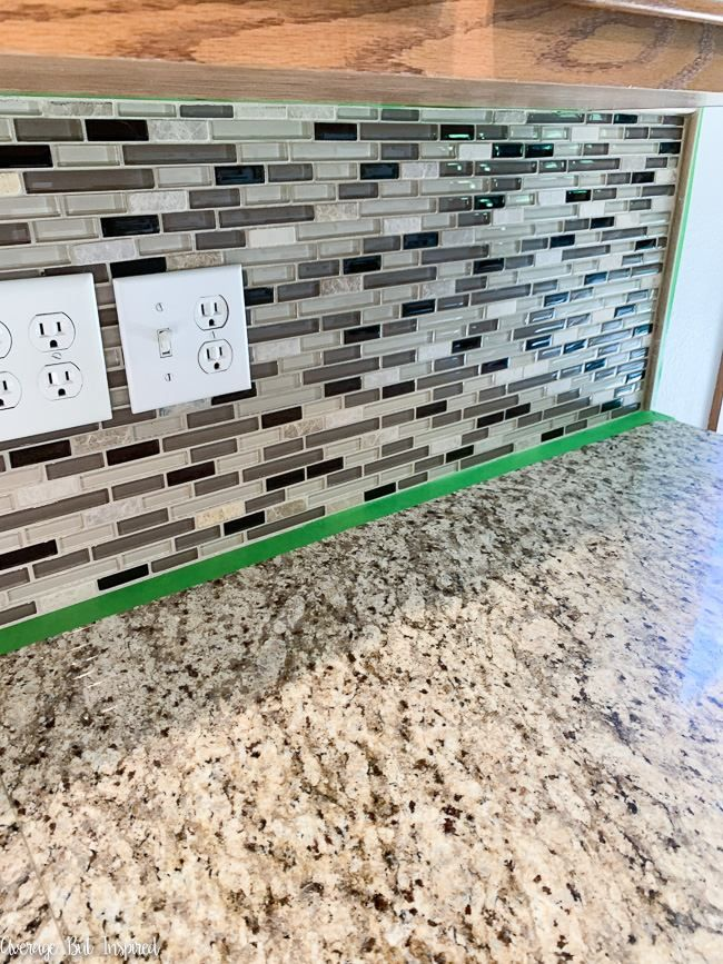 How To Paint A Kitchen Tile Backsplash, Can You Paint Over Glass Tile