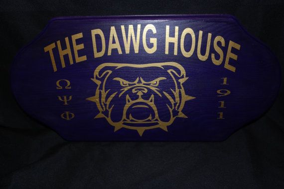 Omega Psi Phi Dawg House Plaque by NeedNalia on Etsy