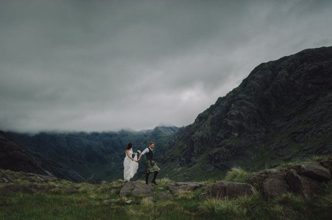 Kind of an Amazing Idea...Secret Scottish Elopement on the Isle Of Skye: Laura + Damian   http://greenweddingshoes.com/secret-scotish-elopement-on-the-isle-of-skye-laura-damian/