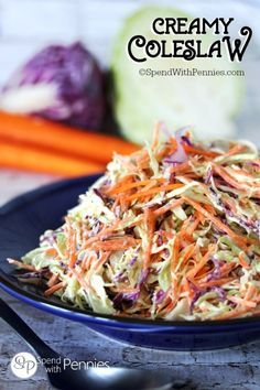This really is the best Coleslaw Recipe!  Creamy, zesty and crunchy.. the…