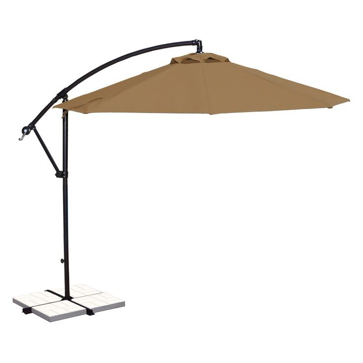 Island Umbrella Santiago 10 ft. Octagonal Cantilever Sunbrella Umbrella Stone - NU6400SS