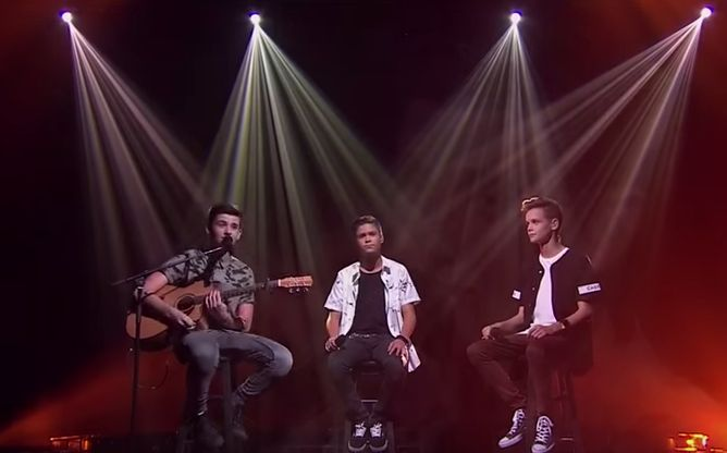 In Stereo performed their version of 'Photograph' by Ed Sheeran on The X Factor Australia 2015 Top 10 live performance show, Monday, October 12, 2015.