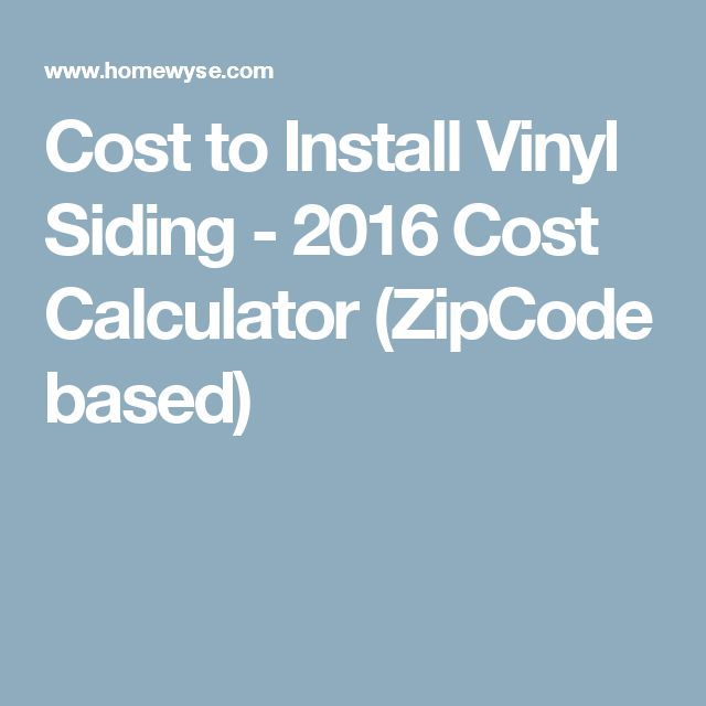 17 Best Ideas About Vinyl Siding Cost On Pinterest