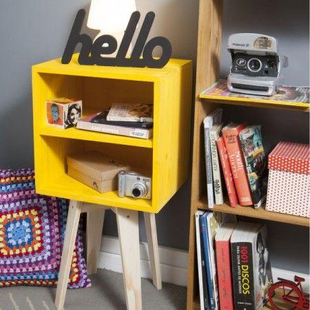 Criado-Mudo Amarelo e Natural! - Tadah! Design
