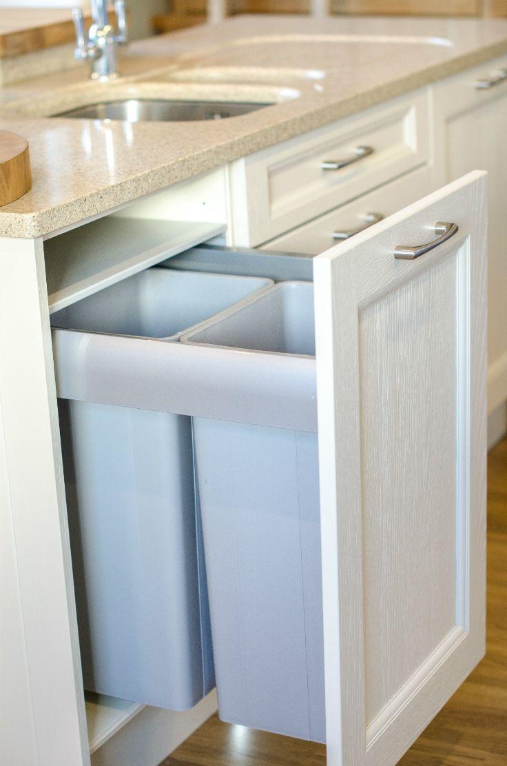 Beautiful hidden Wesco bins. Kitchen by Newhaven Kitchens Carlow.