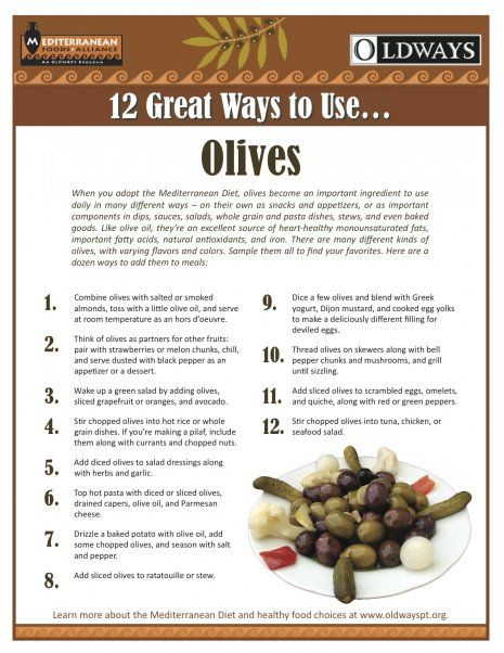 sterling silver jewellery Olives are a big part of the Mediterranean Diet   on their own or as an ingredient in salads sauces or stews   Check out Oldways 12 Great Ways to use Olives
