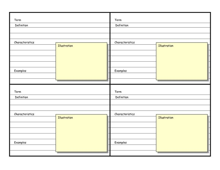 As 25 melhores ideias de Flash card template no Pinterest - flash card template