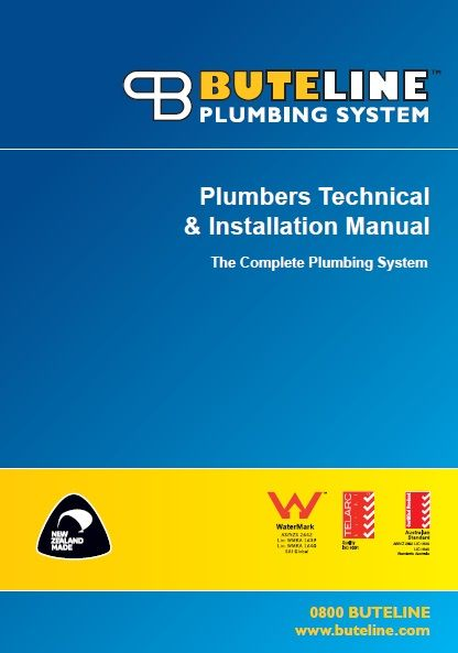 NEW updated New Zealand version (NZPM0316) of our Plumbers Technical & Installation Guide available nw from http://www.buteline.com/nz/downloads/installation-guides/