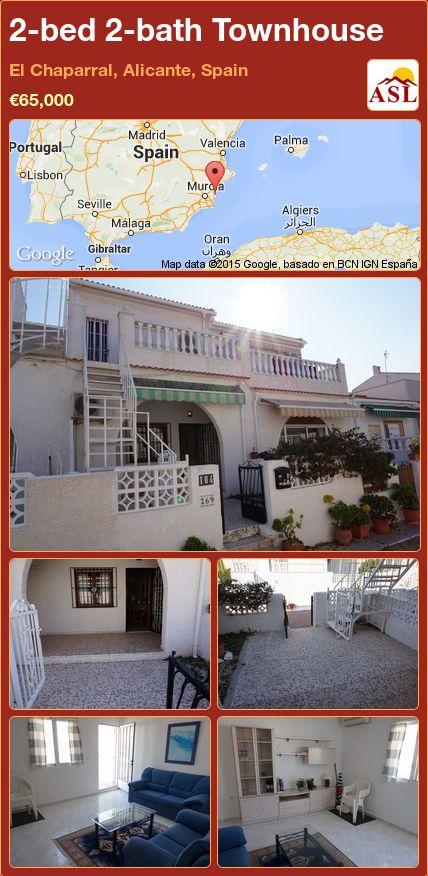 2-bed 2-bath Townhouse in El Chaparral, Alicante, Spain ►€65,000 #PropertyForSaleInSpain