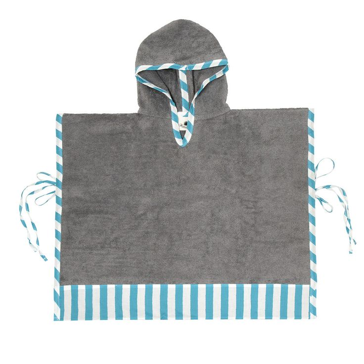 Stripes are always in fashion! This beach towel poncho will add some nautical style to your offspring's beach look!