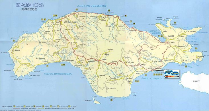 Large Samos Maps for Free Download | High-Resolution and Detailed ...