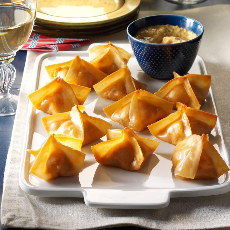 Baked Crab Rangoons Recipe -When I'm dining out, crab rangoon is one of my go-to dishes. I decided to create a better-for-you version at home. —Emily Higgins, Wingdale, NY
