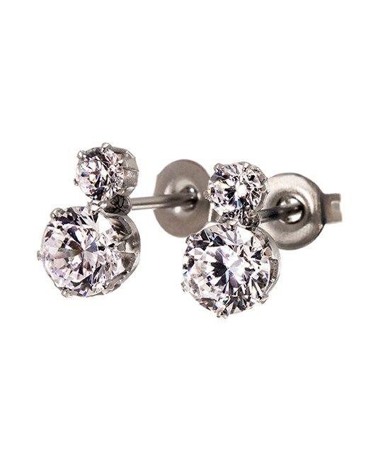Underbara örhängen med dubbla klara stenar från Edblad. Crown är en elegant serie med olika stenar.