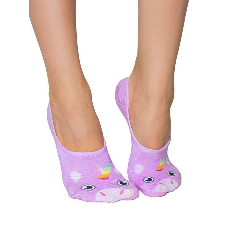 LIVING ROYAL Unicorn Liner Socks   Purple (113L)