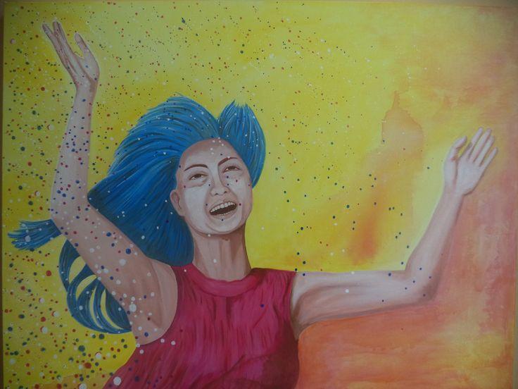 A felicidade / Alê Vilaverde / acrílica sobre tela / acrylic / art