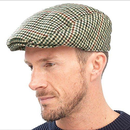 60 kr. (Findes i mørke og forskellige stoffer) Mens Wool Mix Flat Peak Cap Tweed Country Peaked Outdoors Racing Hat Gents L/XL Gensen http://www.amazon.co.uk/dp/B00OYX14NG/ref=cm_sw_r_pi_dp_nqf3wb0XZSGZP