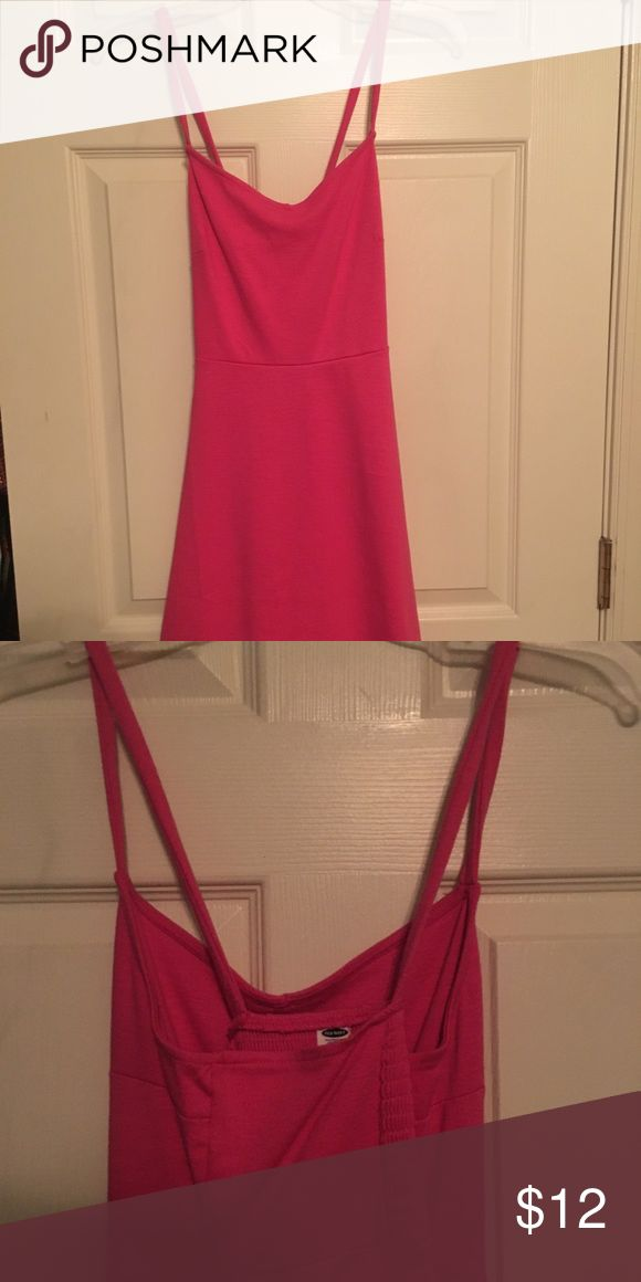 Pink sundress This cute and summery pink sundress is perfect for any occasion. Never worn and in perfect condition. Dress sits right above knees on a 5'7 girl and would look perfect with a cardigan and boots :) Old Navy Dresses