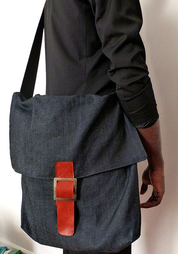 Hey, I found this really awesome Etsy listing at https://www.etsy.com/listing/121153391/sale-messenger-denim-bag-with-leather
