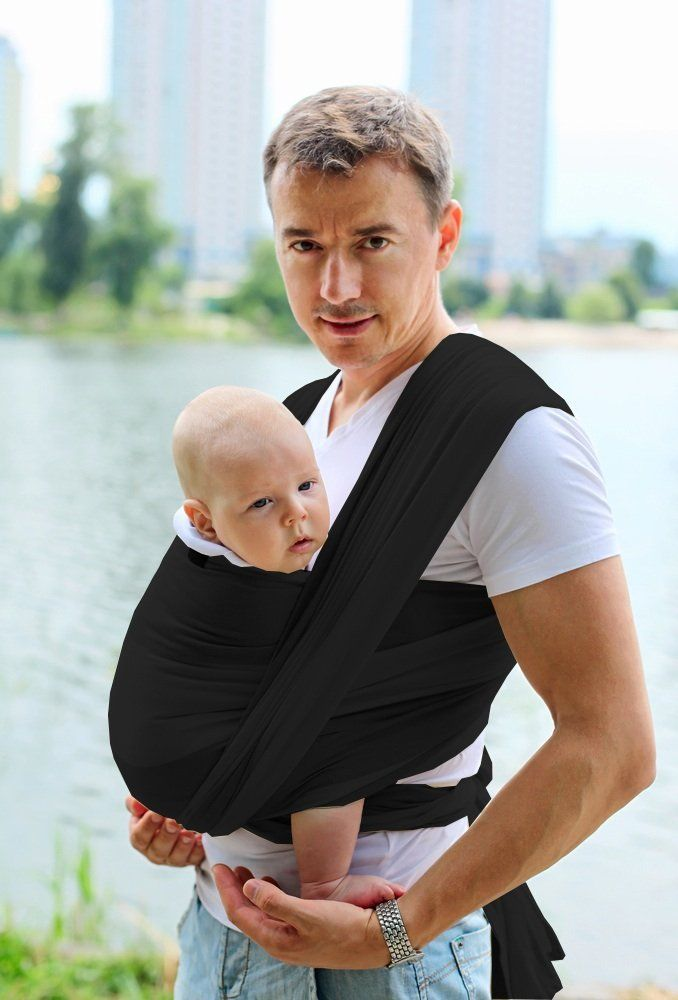 bfd9702f701 Baby Wrap Carrier. Organic Cotton. Nursing Mothers.Baby Shower Gift.Black     Details can be found by clicking on the ima…