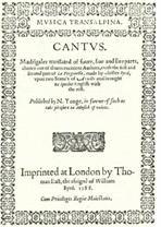 """Nicholas Yonge (c. 1560 - † 23 de octubre de 1619) fue un cantante y editor de música inglés . Es conocido por publicar la colección """"Música transalpina"""" ( 1588 ), formada por madrigales italianos con los textos traducidos al inglés.  Estos madrigales resultaron explosivamente populares, alimentando la moda de cantar y componer madrigales en Inglaterra que floreció hasta las primeras décadas del Siglo XVII. William Heather, fundador de la cátedra de música de la Universidad de Oxford incluyó…"""