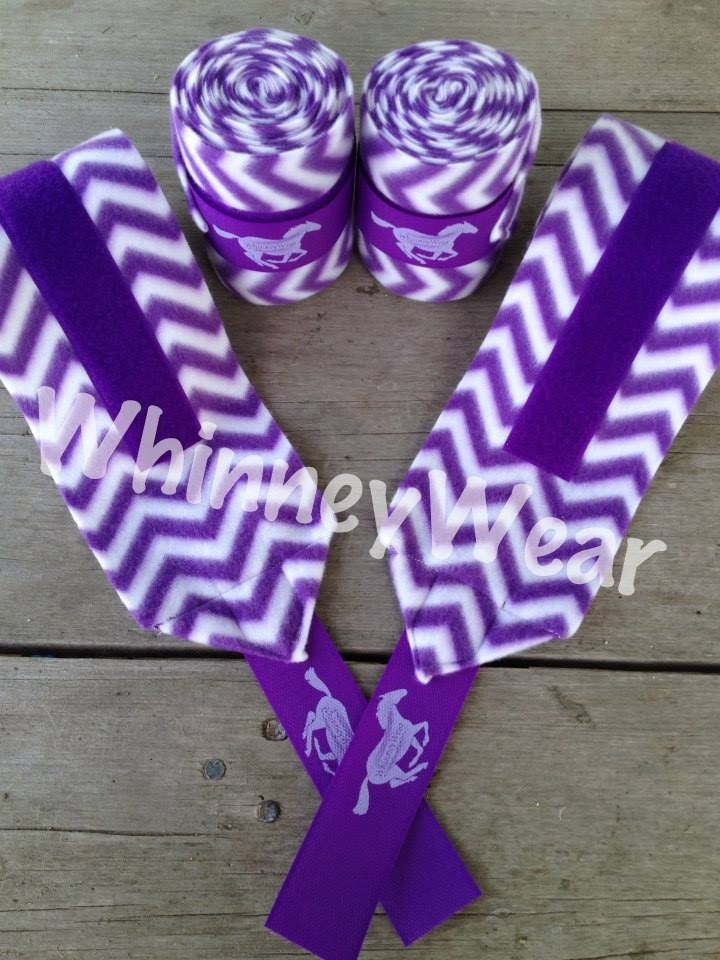 Purple Chevron patterned polo wraps by WhinneyWear   www.whinneywear.com