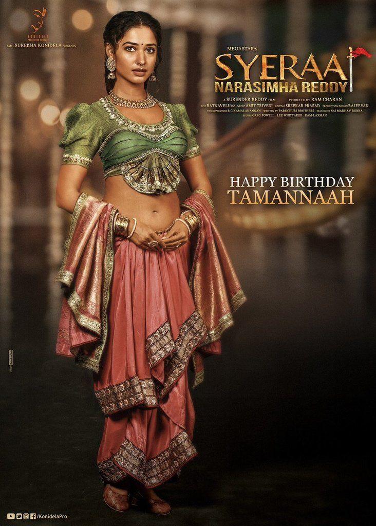 Tamanna Birthday Gift Tamannaah First Look In Syeraa Narasimha