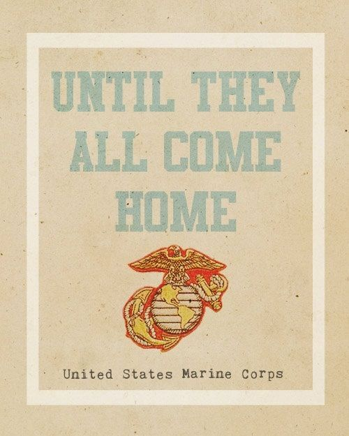 Until they all come home ...