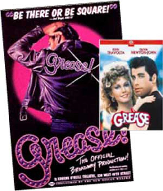 GREASE DVD & POSTER SET - This set includes the Grease DVD and Broadway poster.