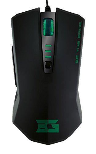 awesome BG Veneno - Raton óptico, 2400 DPI, color negro y verde