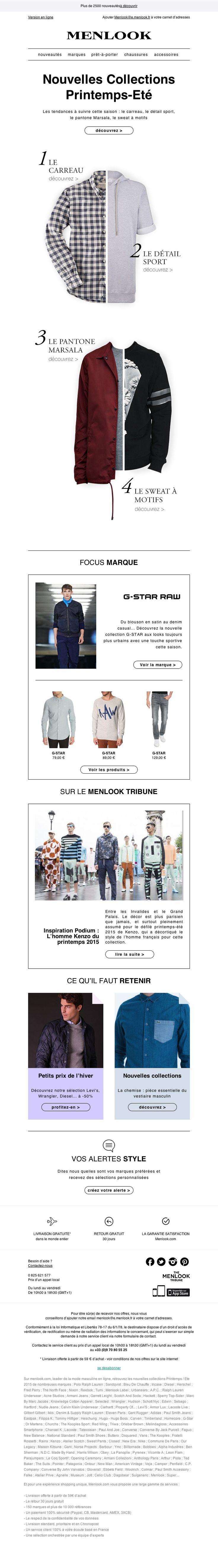 Menlook - Les tendances à suivre cette saison ! email newsletter emailing