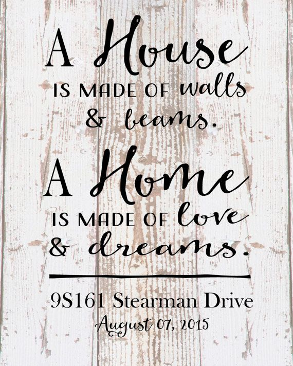 Custom Personalized Home Sweet Home Address Date Wood Sign Canvas Housewarming Gift