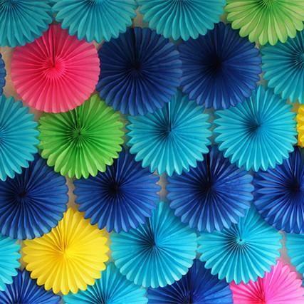 12 30cm Papier Fans Hand Für Hochzeitsdekorationen Birthday Party Kids Happy Tabelle Blumen Heirat Weihnachten