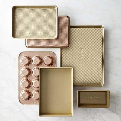 Williams-Sonoma Copper Goldtouch® Nonstick 10-Piece Bakeware Set #williamssonoma
