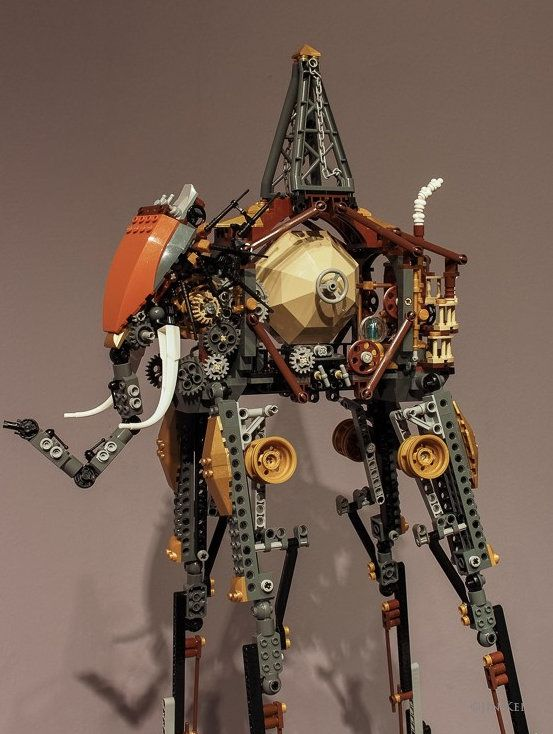 Salvador Dali's elephants get the steampunk Lego treatment via  Jin Kei @CNET
