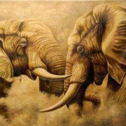 Fighting Elephants! Nu har du chansen att slå till på denna underbara elefant målning. De snygga detaljerna ger hemmet en exklusiv look samtidigt som den enkelt smälter in bland befintlig dekoration. I priset ingår det att canvastavlan är uppspänd på en träram.  Länk till produkt: http://www.feelhome.se/produkt/fighting-elephants/  #Canvas #olipainting #interior #design #Painting #handpainted #canvastavla #canvastavlor  #djur #FightingElephants #Elephants #elefant #Vardagsrum #Natur