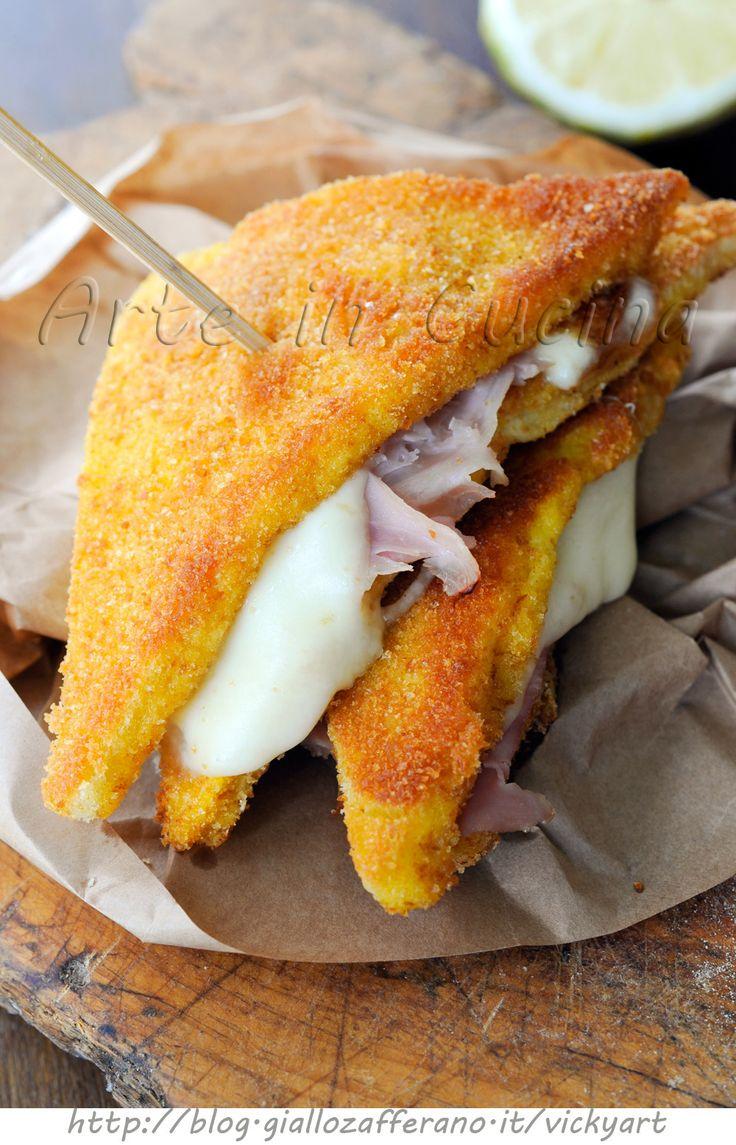 Toast in carrozza al prosciutto ricetta veloce vickyart arte in cucina