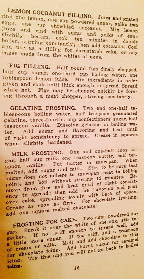 Recipe from The Cake Maker!! Old Recipe