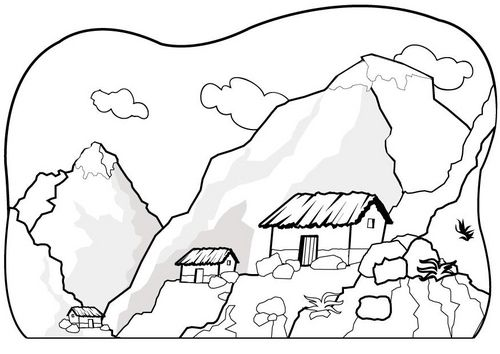Mountain coloring page bergen