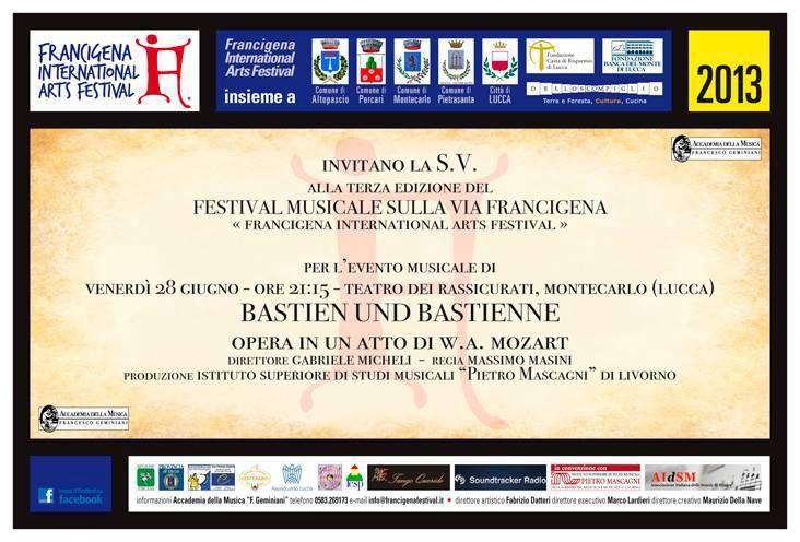 Bastiano e Bastiana, L'Istituto Mascagni al Francigena International Arts Festival, 28 giugno