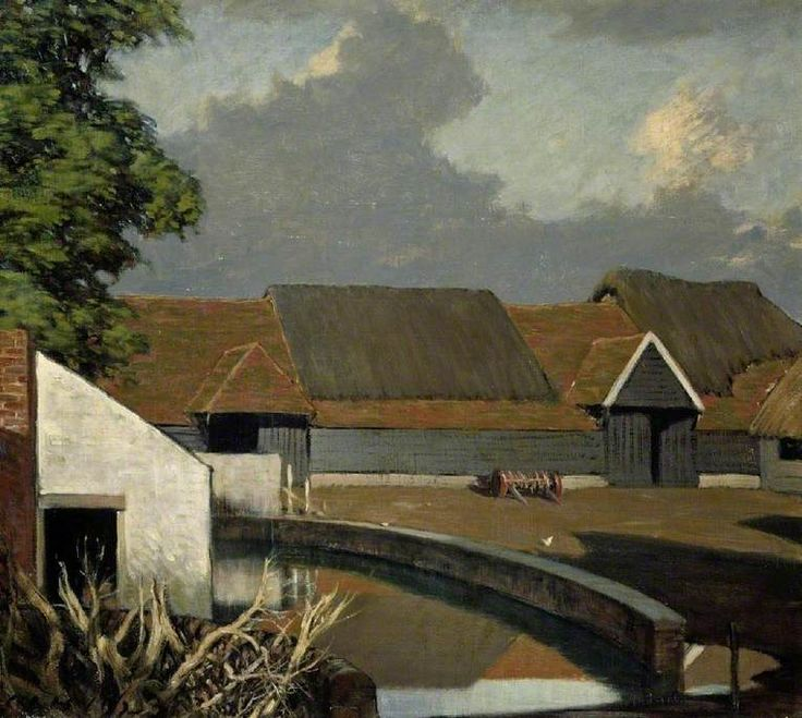 Farmyard at Soberton, Surrey, 1923 by Sir Charles John Holmes (British 1868–1936)
