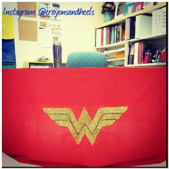 Wonder Woman Desk Skirt Superhero Themed Clroom