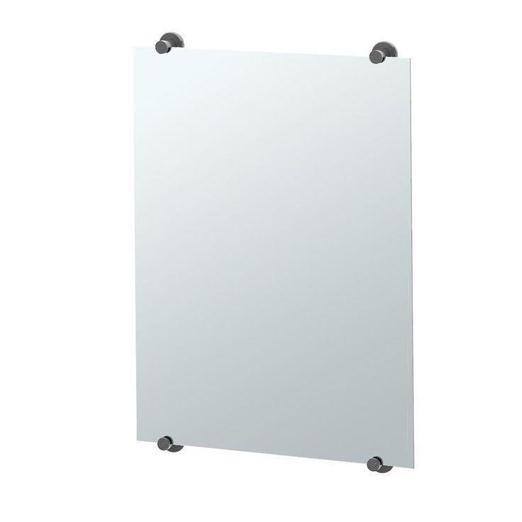 Gatco Latitude II 32 in. x 22 in. Minimalist Frameless Mirror in Matte Black