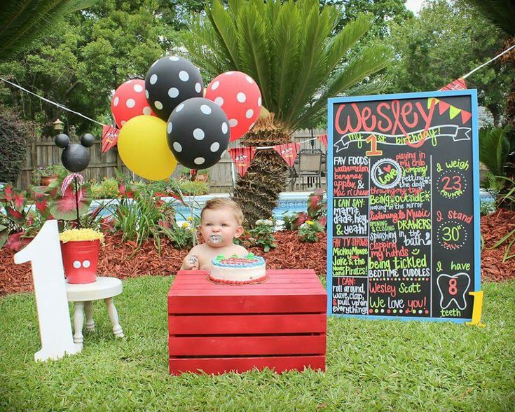 My son's first birthday smash cake pictures. We love Mickey Mouse!